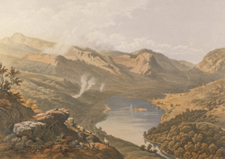 View of Grasmere from Loughrigg Fell, from 'Lake Scenery of England',by J.B Payne, 1859